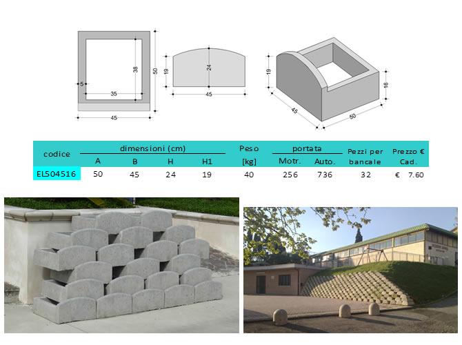 Prefabbricati in cemento per muri a secco